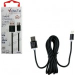 Volte-Tel Regular USB 2.0 to micro USB Cable Μαύρο 2m (VCD06B)