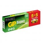GP Super Αλκαλικές Μπαταρίες LR06 ΑΑ (10 Τεμάχια)