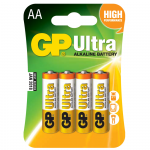 GP Ultra Αλκαλικές Μπαταρίες LR06 ΑΑ (4 Τεμάχια)