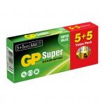 GP Super Αλκαλικές Μπαταρίες LR03 ΑΑA (10 Τεμάχια)