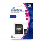 MediaRange Micro SDHC Class 10 With SD Adaptor 8 GB (High Capacity)