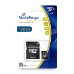 MediaRange Micro SDXCI Class 10 UHS-1 With SD Adaptor 128 GB (eXtended Capacity)