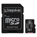Kingston Micro Secure Digital 128GB microSDXC Canvas Select Plus 80R CL10 UHS-I Card + SD Adapter (SDCS2/128GB)