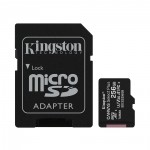 Kingston Micro Secure Digital 256GB microSDXC Canvas Select Plus 80R CL10 UHS-I Card + SD Adapter (SDCS2/256GB)