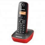 Ασύρματο Τηλέφωνο Panasonic KX-TG1611GRR Black-Red (KX-TG1611GRR)