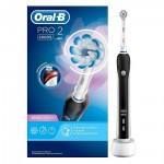 Ηλεκτρική Οδοντόβουρτσα Oral-B Pro 2 2000S Sensi Ultrathin Black (PRO22000S)