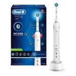Ηλεκτρική Οδοντόβουρτσα Oral-B Pro 4 Cross Action Smart Coaching White (PRO4)