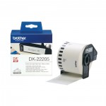 BROTHER LABEL PRINTER TAPE Black on White 62mm wide (DK-22205) (BRODK22205)