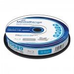 MediaRange BD-R Blu-Ray 25GB 6x Cake Box x10 Inkjet fullsurface printable (MR500)