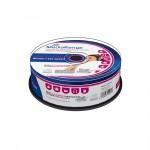 MediaRange Audio CD-R 700MB|80min 12x speed, inkjet fullsurface printable, Cake 25 (MR224)