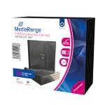 MediaRange CD Jewelcase  for 1 Disc 10.4mm Transparent Tray (5 Pack) (MRBOX31-T)