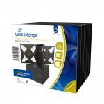 MediaRange CD Jewelcase for 6 discs 22mm Black Pack 5 (MRBOX34-6)