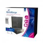 MediaRange CD Jewelcase  for 1 Disc 10.4mm Black Tray (5 Pack) (MRBOX31)