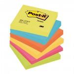Αυτοκόλλητα Χαρτάκια 3M Post-it 76 x 76 mm Super Sticky Rio (6) (Διάφορα Χρώματα) (90 Φύλλα) (MMM654RIO)
