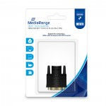 MediaRange HDMI™ to DVI adapter, gold-plated, HDMI socket/DVI-D plug (18+1 Pin), black (MRCS170)