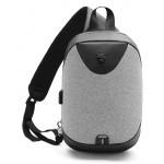 ARCTIC HUNTER τσάντα Crossbody XB0049-LG, tablet, αδιάβροχη, USB, γκρι