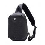 ARCTIC HUNTER τσάντα Crossbody XB0049-BK, αδιάβροχη, USB, μαύρη