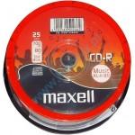 MAXELL CD-R music XL-II 80min, 700MB, 16x, 25τμχ Cake box