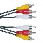 POWERTECH Καλώδιο 3x RCA Male σε 3x RCA Male (red, white, yellow), 3m