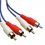 POWERTECH Καλώδιο 2x RCA Male σε 2x RCA Male CAB-R003, 5m