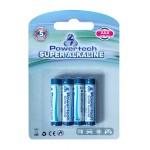 POWERTECH  Super Αλκαλικές μπαταρίες AAA LR03, 4 τεμ