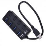 POWERTECH USB 3.0V Hub, 4 Port, με διακόπτη On-Off
