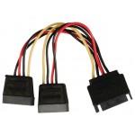 POWERTECH καλώδιο SATA 15pin male σε 2x 15pin female CAB-W012