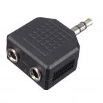 POWERTECH Αντάπτορας από stereo 3.5mm (M) σε 2x 3.5mm (F), nickel, 5τμχ