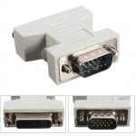 POWERTECH Adapter VGA 15pin male σε DVI-I 24+5 F,  συμβατό και με 24+1