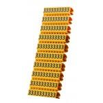 POWERTECH Clip αρίθμησης καλωδίου Νο 3, Orange, 10τεμ.