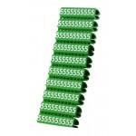 POWERTECH Clip αρίθμησης καλωδίου Νο 5, Green, 10τεμ.