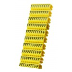 POWERTECH Clip αρίθμησης καλωδίου γράμμα F, Yellow, 10τεμ.