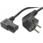 POWERTECH καλώδιο τροφοδοσίας 90° για Η/Υ, 3 Pin, 1.5m, CCS, Black