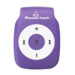 POWERTECH MP3 Player με clip, επαναφορτιζόμενο, microSD, Μωβ