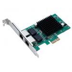 POWERTECH Κάρτα Επέκτασης PCI-e to 2x LAN 10/100/1000, Chip Intel 82575