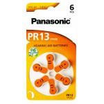 PANASONIC μπαταρίες ακουστικών βαρηκοΐας PR13, mercury free, 1.4V, 6τμχ