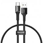 BASEUS καλώδιο USB σε Type-C CATGH-D01, LED, 3A, 0.25m, μαύρο