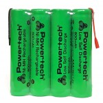 POWERTECH επαναφορτιζόμενη μπαταρία PT-791 800mAh, AAΑ (HR03), 4τμχ