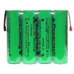 POWERTECH επαναφορτιζόμενη μπαταρία PT-794 2100mAh, AΑ (HR6), 4τμχ