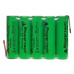 POWERTECH επαναφορτιζόμενη μπαταρία PT-795 2100mAh, AΑ (HR6), 5τμχ