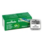 MURATA μπαταρία Silver Oxide για ρολόγια SR616SW, 1.55V, No 321, 10τμχ