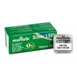 MURATA μπαταρία Silver Oxide για ρολόγια SR41, 1.55V, No 392/384, 10τμχ