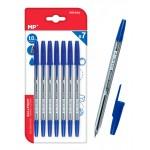 MP στυλό διαρκείας PE144A, 1mm, μπλε, 7τμχ