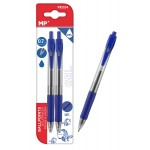 MP στυλό διαρκείας gel PE224, 0.7mm, μπλε, 2τμχ