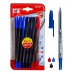 MP στυλό διαρκείας PE144O, 1mm, μπλε, μαύρο & κόκκινο, 21τμχ