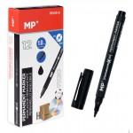 MP ανεξίτηλος μαρκαδόρος PE415-S για CD-DVD, 1mm, μαύρος 12τμχ