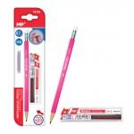 MP Mηχανικό μολύβι PE169 με γόμα, HB, 20x ανταλλακτικά, 0.7mm, ροζ
