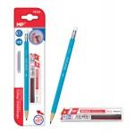 MP Mηχανικό μολύβι PE169 με γόμα, HB, 20x ανταλλακτικά, 0.7mm, γαλάζιο