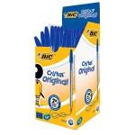 BIC στυλό διαρκείας Cristal με μύτη 1mm, μπλε 50τμχ