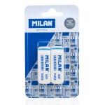 MILAN γόμα 620 BPM10044MP, παραλληλόγραμη 55 x 20 x 15mm, σετ 2τμχ